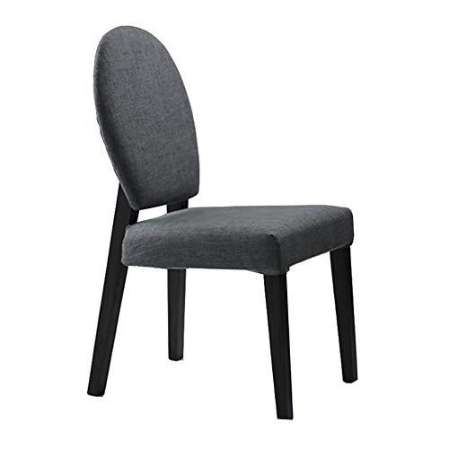 Esszimmerstühle YXX Outdoor Gray Dining Bistro Cafe seitlich Verstellbarer Stuhl mit Holzbeinen,...