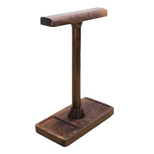 Supporto di porte-écouteurs in legno con supporto di cavo [Colore Noce], 2