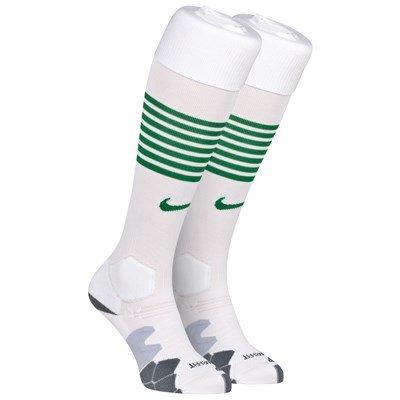 2013-14 Celtic Home Nike Football Socks (White)