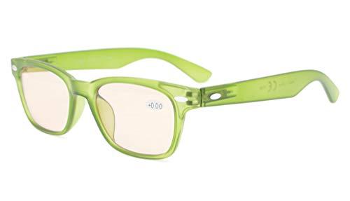 Eyekepper Computer Brille Gemütlich Getönt Linse Computer Brille,Matte Grün Rahmen +1.75