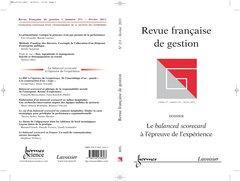 Le Balanced Scorecard a l'Epreuve de l'Expérience (Revue Française de Gestion Vol. 37 N. 211 Fevrier