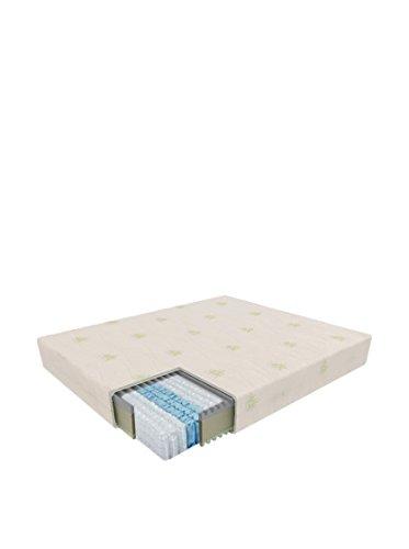 Sanidorm Vega Federkern-Matratze mit Bezug, Memory-Schaum, Weiß, 80x 190x 23cm