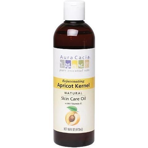 Natural Skin Care Oil, Apricot Kernel, 16 fl oz (473 ml) by Aura (Aura Cacia Apricot Kernel Oil)