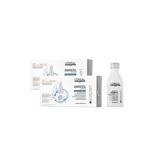 Die L 'Oreal Expert Advanced Aminexil 20Ampullen + Shampoo Density gratis Kit - Gratis-shampoo