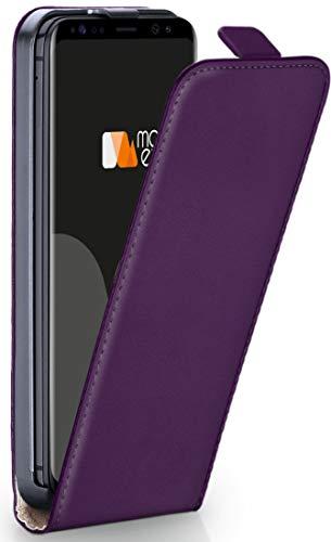 moex Samsung Galaxy S9   Hülle Lila 360° Klapp-Hülle Etui Thin Handytasche Dünn Handyhülle für Samsung Galaxy S9 Case Flip Cover Schutzhülle Kunst-Leder Tasche
