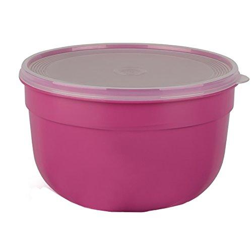 Emsa Frischhalteschale mit extra softem Deckel, Rund/hoch, 4,0 L, Pink, Superline Colour, 517156