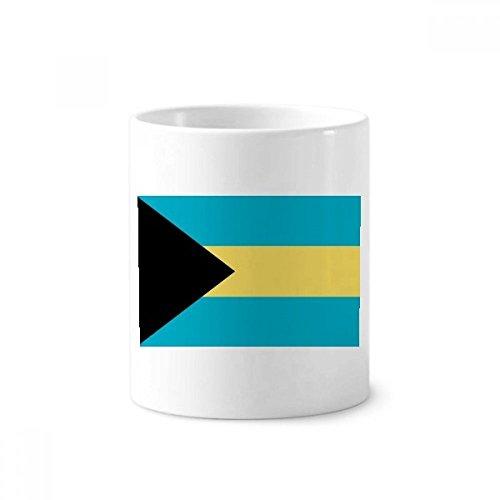 DIYthinker Die Bahamas Nationalflagge Nordamerika Land Keramik Zahnbürste Stifthalter Tasse Weiß Cup 350ml Geschenk 9.6cm x 8.2cm hoch Durchmesser Bahama Becher