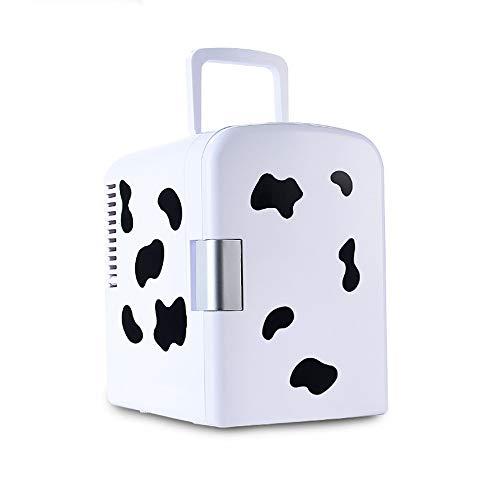 Kanqingqing-Home Minikühlschrank Mini-Kühlschrank 6 Liter AC/DC tragbarer thermoelektrischer elektrischer Kühler und Wärmer System 6 Liter (Farbe, Größe : 205 * 260 * 288mm) (Vi-hautpflege-system)