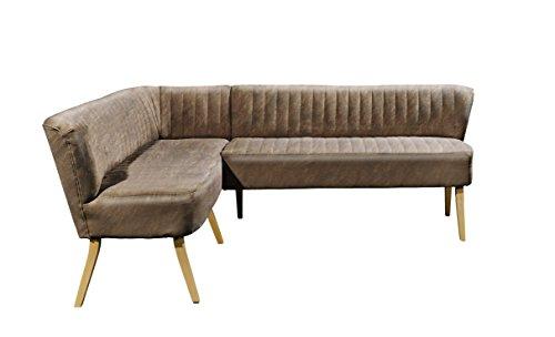 Stella Trading Marcel Diningeckbank, Stoff, Light Brown, 164 x 220 x 83 cm