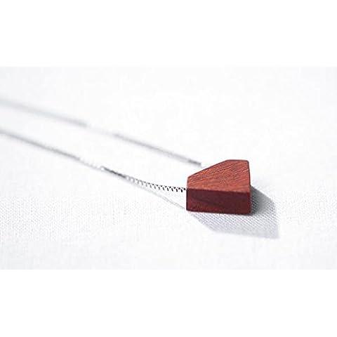 SUYA Lucidato a mano a mano, palissandro rosso ciondolo, ciondolo di ebano, 925 gioielli in argento Sterling collana stile cinese classico retrò, regalo alla moda , rosewood