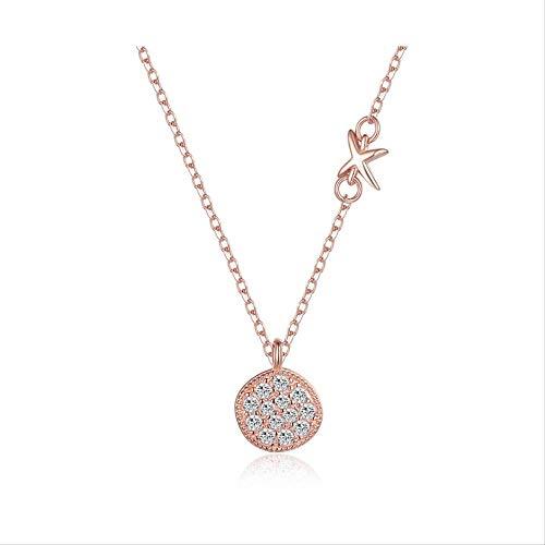 HCC&WHZ Schmuck 925 Reine Silber verkrustet Diamant voll von Zirkon hochwertige Schlüsselbein Kette Halskette Frau