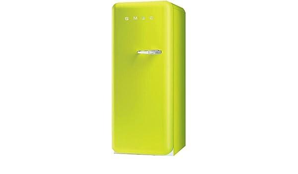 Retro Kühlschrank Pastellgrün : Smeg fab lve standkühlschrank a l grün mit