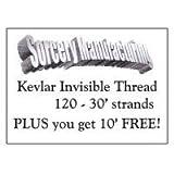 Magie Tour de Fil Invisible Professionnel - Kevlar Noir