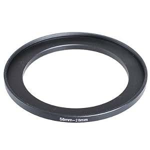 deep-deal Stepdown Ring 58mm to 28mm Objectif Noir ,Métal Noir Anodisé 58mm-28mm, 58-28 mm