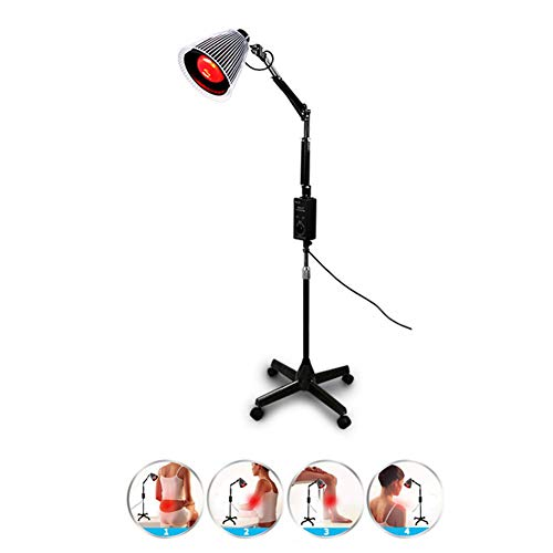100 W Infrarrojo Lámpara De Piso De Fisioterapia Termostato De Cuidado Lámpara De Hornear Medical Home Multifuncional Lumbar Health