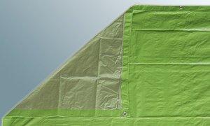 Preisvergleich Produktbild Abdeckplane Gewebeplane 5 x 6 m,  80 g / m²,  mit doppeltem Rand und Ösen (0, 74 EUR / qm)