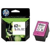 HP 62XL C2P07AE Cartouche d'Encre Grande Capacité Authentique pour Imprimantes HP Envy 5540/5640/7640 Trois Couleurs