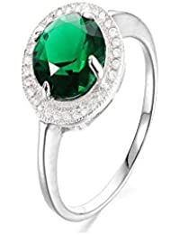 Certified Crt 6.65 -7.25 Ratti Created Emerald Ring ( Created Panna / Panna stone Silver Ring ) 100% Original AAA Quality Gemstone