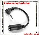 Adapter-Kabel 3,5mm an 2,5mm Klinke / Zum Anschließen eines 3,5mm Klinken-Steckers an eine 2,5mm Kupplung