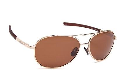 Coyote Eyewear p-9Sportsman 's P-Serie Polarisierte Aviator Sonnenbrille, damen, goldfarben / braun