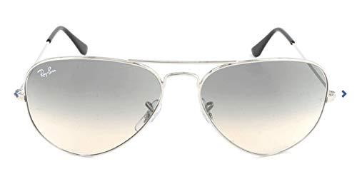 Ray Ban Unisex Sonnenbrille Aviator, Gr. Large (Herstellergröße: 58), Silber (silber 003/32)