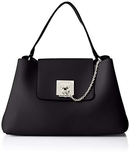 2fe3560ed3c085 Calvin Klein Ck Lock Shoulder - Borse a spalla Donna, Nero (Black),