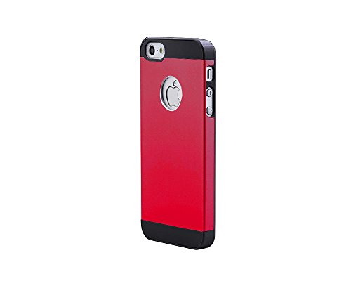 iPhone SE Case,iPhone 5 5s Cover,Besta Nouveau Combo Housse de protection Arrivée Ultra mince Metal Aluminium Case Cover Shell Back + Cadre PC Bumper Inner Case pour iPhone SE/iPhone 5 5s-Rose Gold A/Red