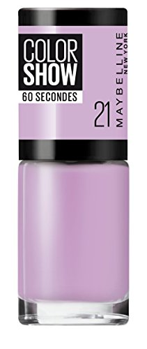 Maybelline New York Color Show Nagellack 21 lilac wine, 7ml