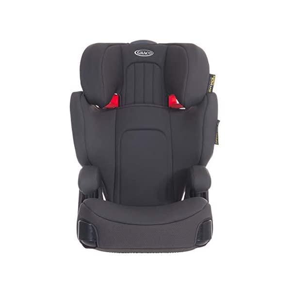 Graco Assure GRP 2/3 Booster Car Seat, Midnight Grey Graco For children 15 to 36 kg (approx. 4 to 12 years) Convenient one-hand adjustable headrest Safety surround impact protection and height-adjustable padded armrest for comfort 1