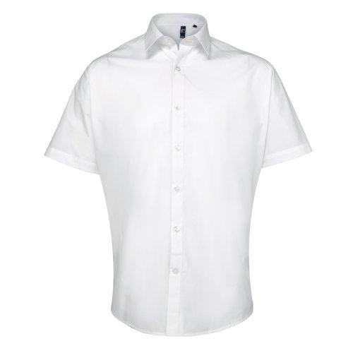 Preisvergleich Produktbild Premier Supreme Herren Hemd / Arbeitshemd, schwere Qualität, kurzärmlig (Kragenweite 44) (Weiß)