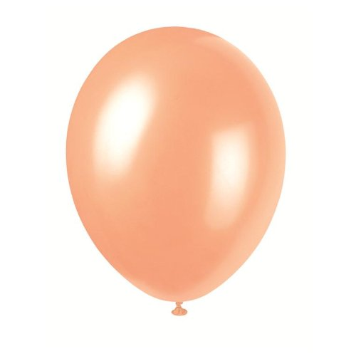 (50 x 12 SOFT PEACH PEARLISED LATEX WEDDING BALLOONS by Unique Party Supplies)