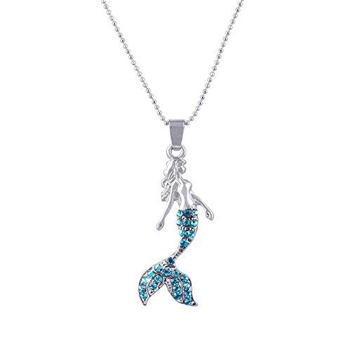 Candygirl Märchen Meerjungfrau Kristall Anhänger Halskette Mädchen Jugendliche Schmuck Romantische Geschenke - Einstellbare Kette