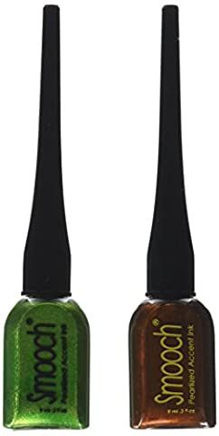 Smooch Pearlized Accent Ink, 2-Pack, Molasses and Green Apple by Smooch
