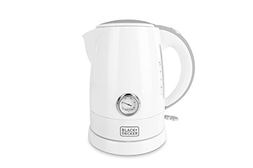 Black + Decker BXKE1701IN 1.7-Litre Electric Kettle with Temperature Dial (White)