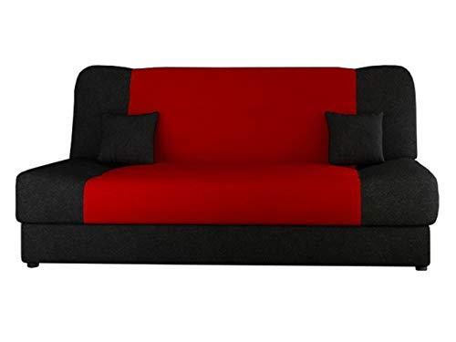 Schlafsofa Jonas Style, Sofa mit Bettkasten und Schlaffunktion, Bettsofa, Schlafcouch, Microfaser, Couch vom Hersteller, Wohnlandschaft (Alova 04 + Alova 46)