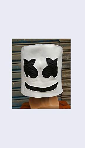 XXF Top 100 Elektronische Sound Festival Marshmallow Dj Kopf Abdeckung Marshmello Kopf Abdeckung Maske Cos Halloween Party Prom,EIN,Einheitsgröße