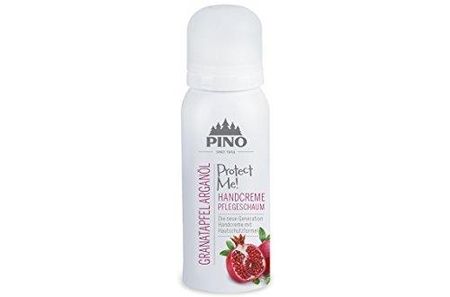 Pinopharma 33335 PROTECT ME! Handcreme Pflegeschaum Granatapfel Arganöl incl. 2 Waschhandschuhe von carmesin -