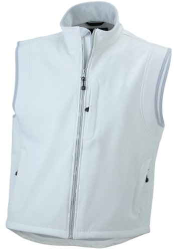 Trendige Herren-Weste aus Softshell Off-White