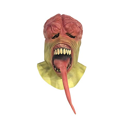 JGBHPNYX Zombie Mask Horror Walking Dead Halloween Spaventoso Copricapo in Lattice