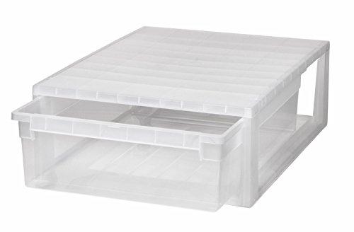 Kreher XL Schubladenbox mit extra Tiefe und Nutzvolumen von 22 Litern. Passend für z.B. Bettwäsche, Laken, Kissen, u.v.m. Kombinierbar mit Anderen Boxen zu Einem Boxensystem! SUPER