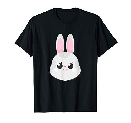 Kaninchen Gesicht Häschen Kostüm Halloween Weihnachten T-Shirt (Toten Weißen Kaninchen Kostüm)