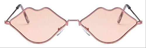 PGFMVP Sonnenbrillen Cat Eye Red Sonnenbrille Retro Sonnenbrille Female Party Sonnenbrille Brille Uv400 Photochrom 100% Schutz vor schädlichen EdelstahlrahmenPink