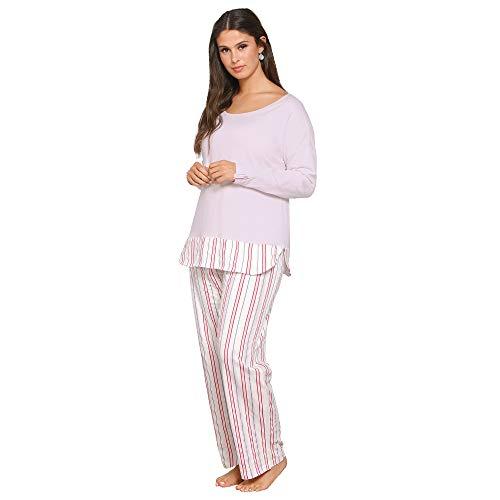 Pijama Camiseta de Escote Redondeado by Vencastyle,Rosa,3XL
