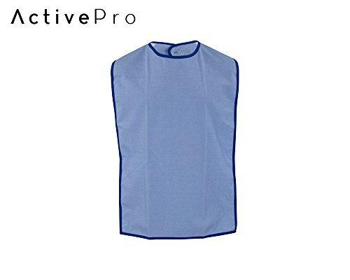 ActivePro ESS-Schürze Frottee/PU | Seniorenlätzchen zum Knöpfen| Essschürze für Erwachsene | abwaschbares Lätzchen | Kleiderschutz für Senioren (Mint)