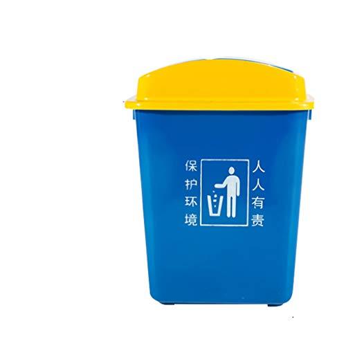 GYZS Kunststoff Mülleimer Outdoor Große Shake Cover Industrielle Mülleimer Gemeinschaft Büro Mülleimer Küche (Farbe : with lid, größe : 20L) (Touchless Mülleimer 20 Liter)