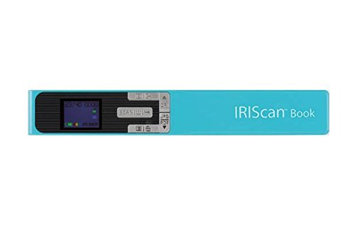 IRIS - IRIScan Book 5 Numériseur Portable en Couleur | Numériseur Portable | Rapid | DIN A4 | Numérisation au Format PDF & JPEG | Sans Ordinateur | Batterie Lithium Longue Durée - Turquoise