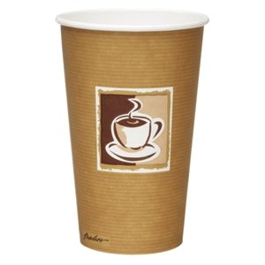 Bistro Single Wall Hot Cups - Capacity: 16oz. Box Quantity:
