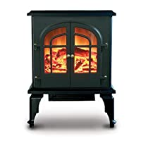De Vielle Electric Stove, Metal, Black, Large