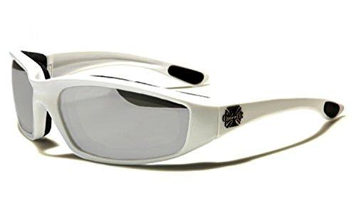 Choppers Maske und Sonnenbrillen - Multisport - Ski - Snowboard - MTB - Moto - Schutz - Biathlon / Mod. Bull Silberspiegel