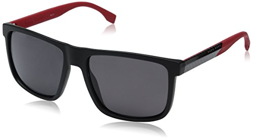 BOSS Hugo Herren 0879/S 3H 0JA Sonnenbrille, Rot (Mtbk Crbnred/Grey Pz), 57